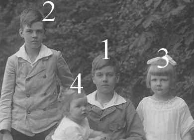 Friedrich Franz, Christian Ludwig, Thyra et Anastasia de Mecklembourg