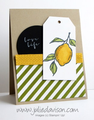 Stampin' Up! Sale-a-bration  A Happy Thing + Irresistibly Yours DSP #stampinup #saleabration www.juliedavison.com