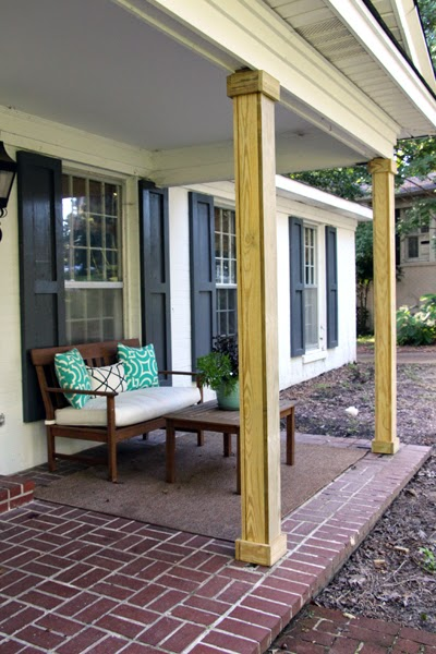 Some like a project building porch columns part ii at this point we let our columns dry out for six weeks before we caulked primed and painted them it is super important that you let treated wood dry solutioingenieria Choice Image