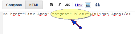 Kode Target Blank