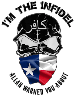 I'm the Infidel Allah Warned You About (Texas) T-Shirt