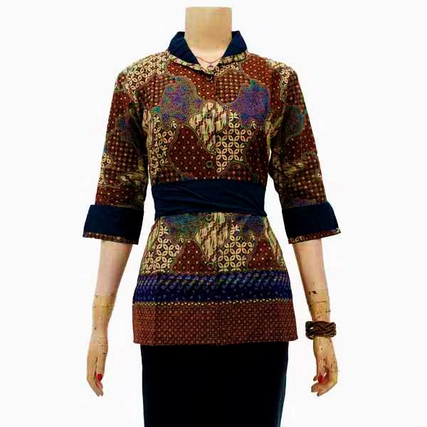 Desain Blouse Batik Modern 57