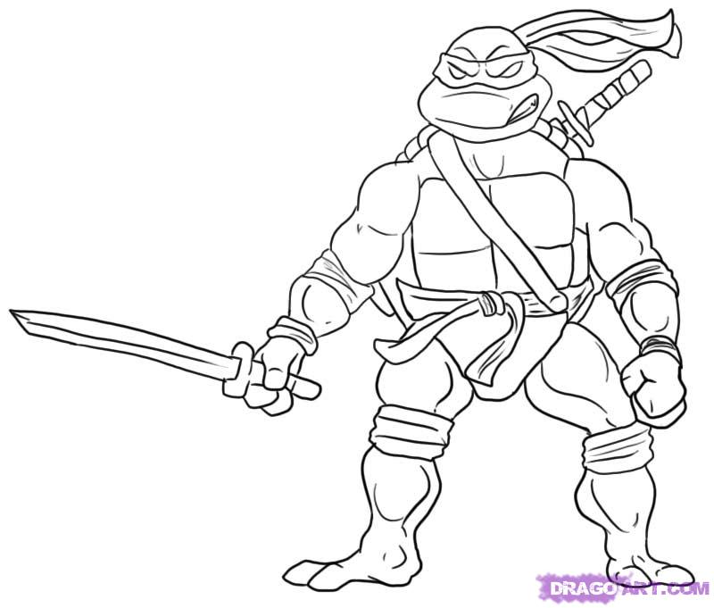 Ninja turtle coloring pages free printable pictures for Coloring pages turtles ninja