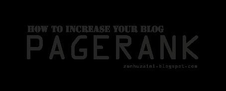 Meningkatkan Pengunjung / Visitor dan Pagerank Blog