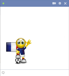 French football smiley for Facebook