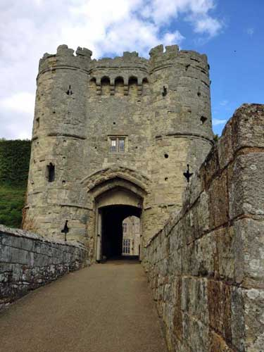 Carisbrooke Castle, England, UK.