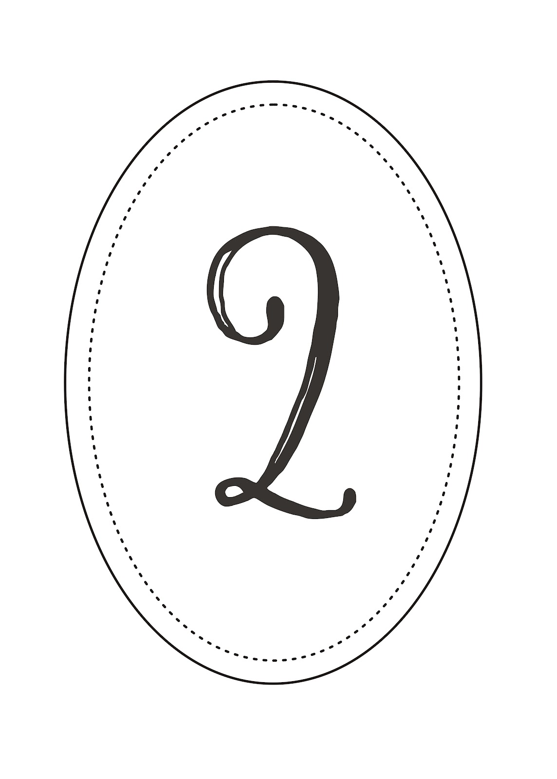 Free Printable: Wedding Table Numbers