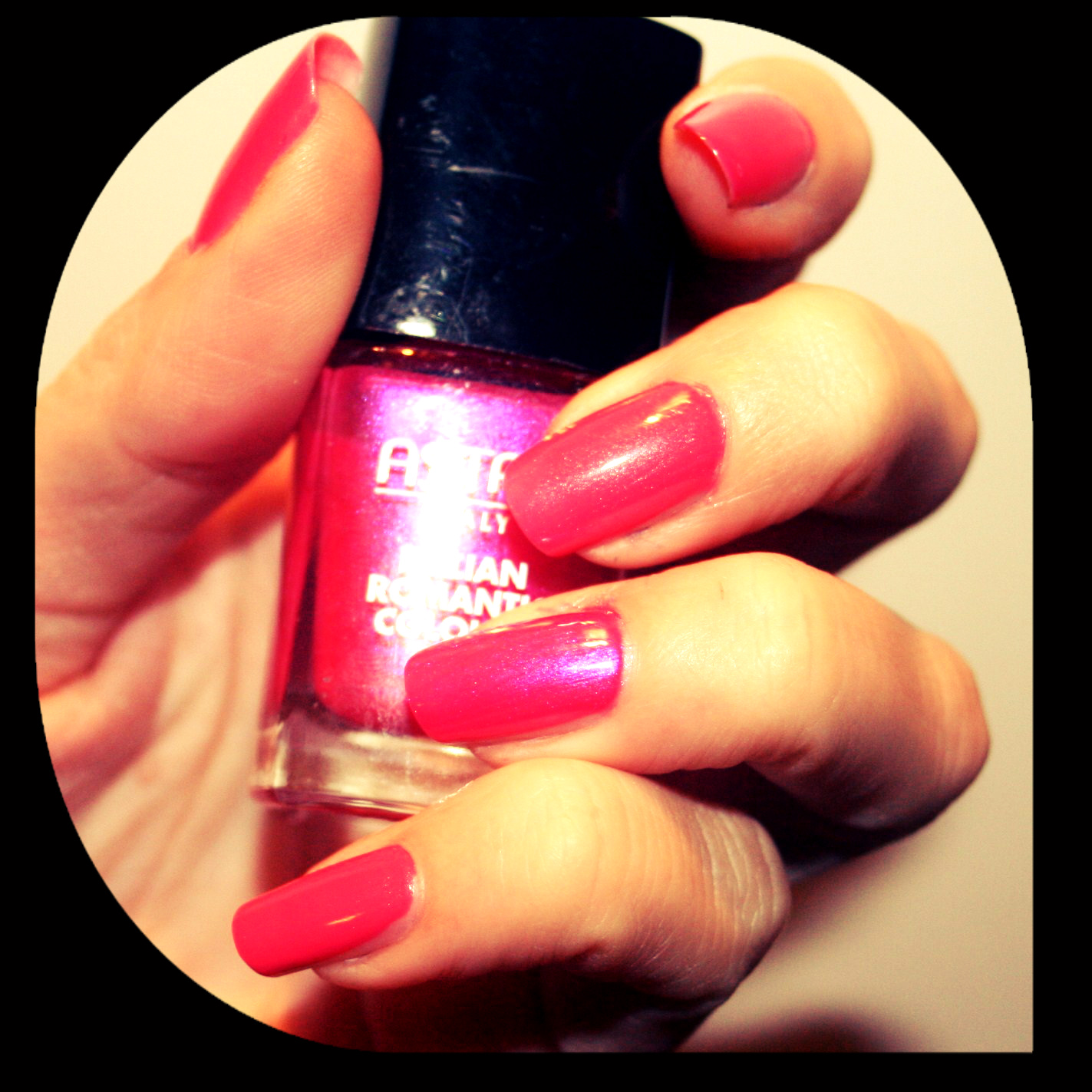 Red Nail Polish On Thumb: MichelaIsMyName: NOTD // ELF Flourescent Pink Nail Polish
