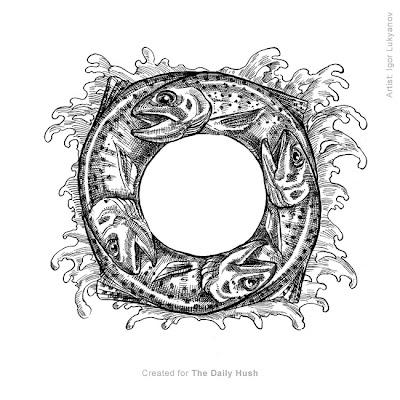 trout fish circle
