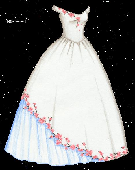 Blue Cherry Blossom Prom Dress