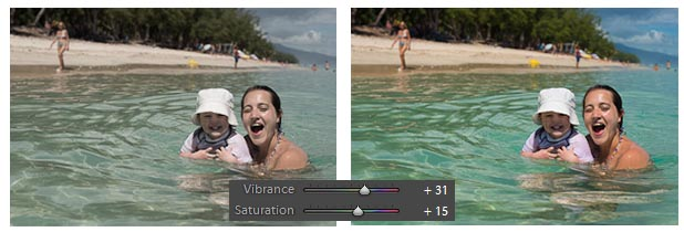 Lightroom - Vibrance et Saturation