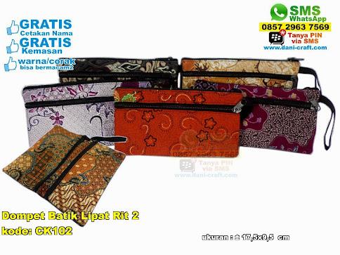Dompet Batik Lipat Rit 2