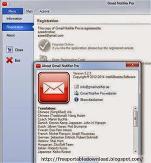 Download Gmail Notifier Pro 5.2.3 Multilingual Portable
