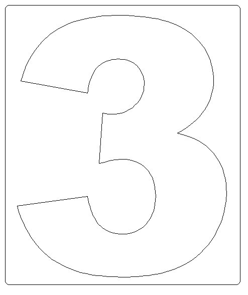 Moldes de numeros para imprimir 3 - Imagui