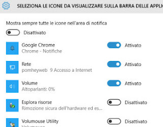 area di notifica windows 10