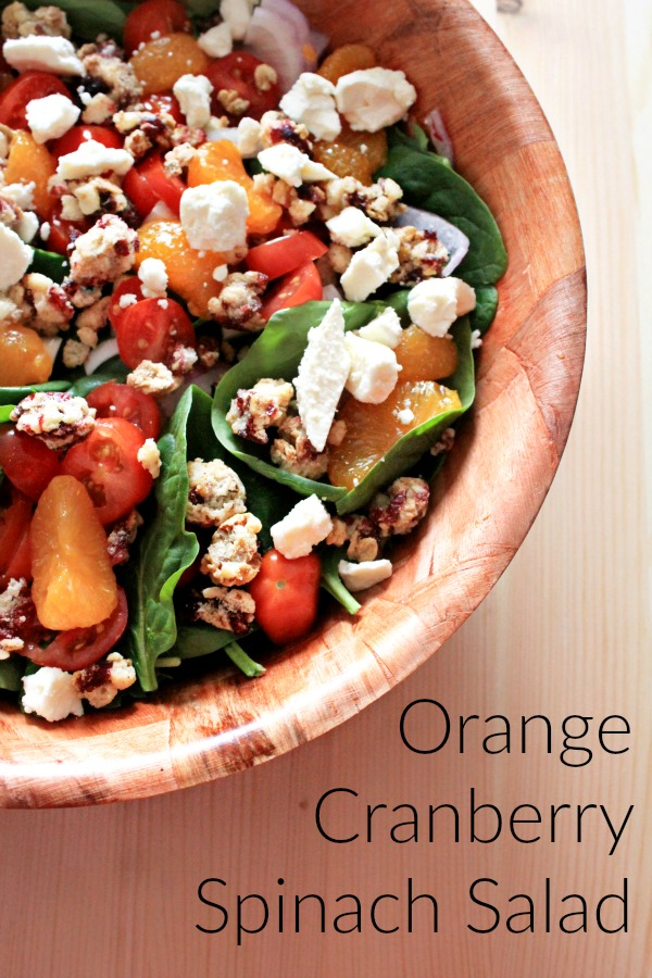 Orange Cranberry Spinach Salad  #BetterWithCraisins #ad