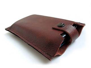 Leather cell phone sleeve case