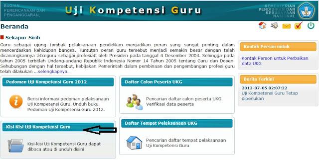 UKG Online - Uji Kompetensi Guru 2012