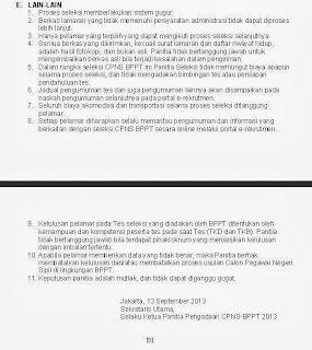 Informasi Lowongan seleksi CPNS BPPT September 2013