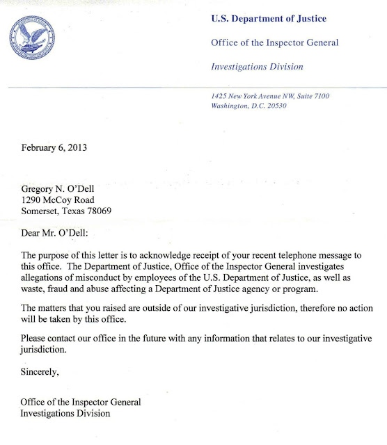 Office of the Inspector General Investigations Division