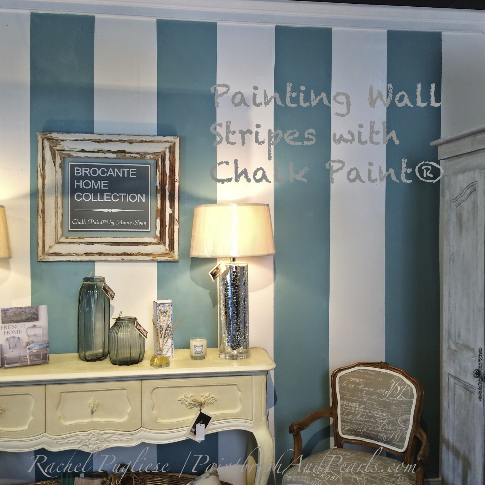 Brocante home collection 39 s paintbrush and pearls painting for How to paint a wall with chalk paint