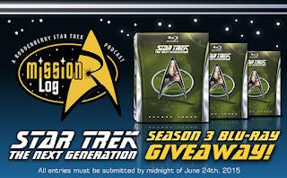 Enter to win Star Trek: TNG Season 3 Giveaway. Ends 6/23