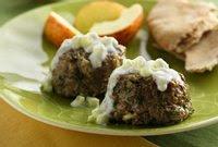 Mini Greek Meat Loaves with Tzatziki Sauce