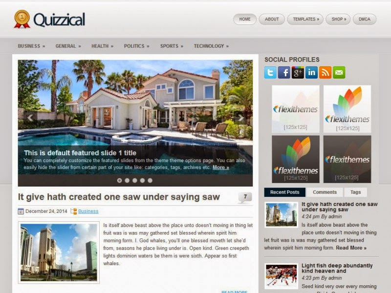Quizzical - Free Wordpress Theme
