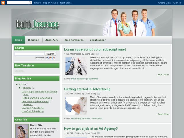 Health Insurance Blogger Template | Blogger Templates Gallery