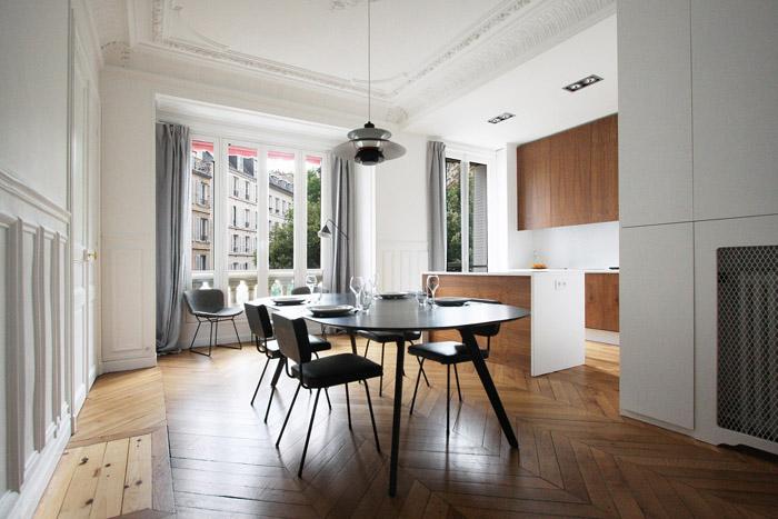 2EME PORTE A GAUCHE: Rénovation d\'un appartement haussmanien