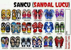 Yang mau Jualan Sandal Lucu ( sancu ) klik gambar di bawah , Open Reseller dan Dropship :