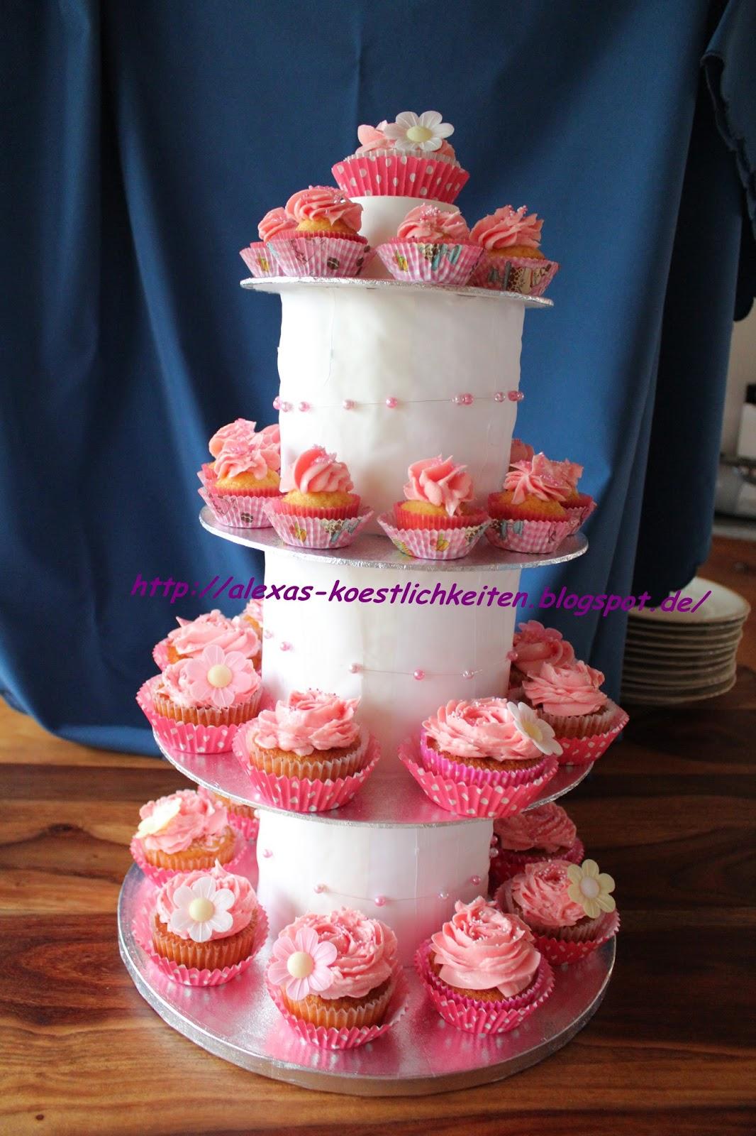 Cupcake Hochzeitstorte ♥ Ein Traum in rosa ♥