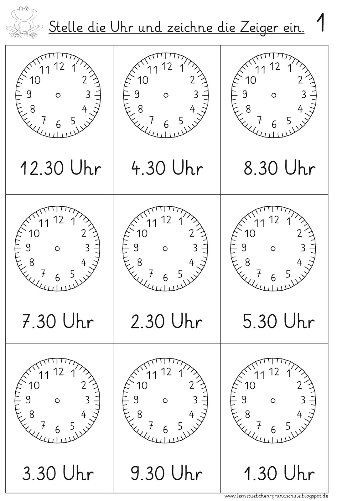 Arbeitsblatt Uhr Grundschule : Arbeitsblatt vorschule arbeitsblätter uhr klasse