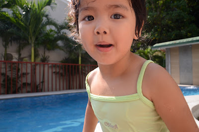 Kecil close up at the pool