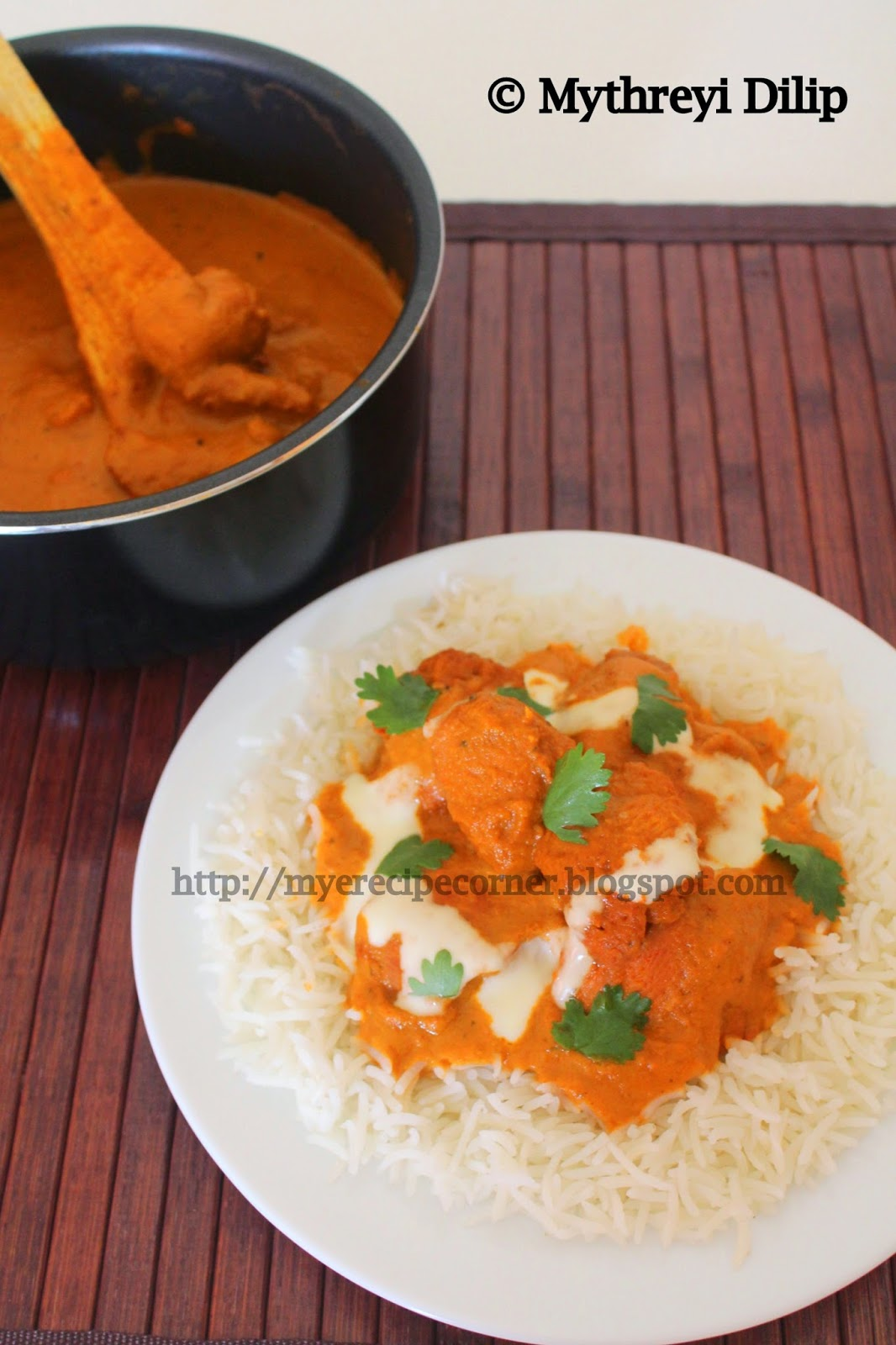Myes kitchen restaurant style butter chicken recipe chicken restaurant style butter chicken recipe chicken tikka masala recipe with step by step pictures forumfinder Image collections