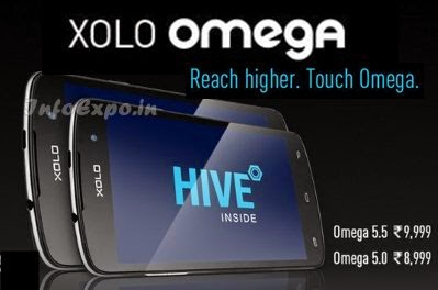 Compare Xolo Omega 5.0 with Xolo Opus 3 - Specs and Price