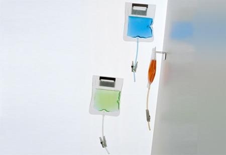 Дозатор для жидкого мыла в виде капельницы