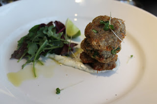 Crabcakes, Starters, restaurant review, Marriott Hotel, Waltham Abbey, Essex, lbloggers, fdbloggers,