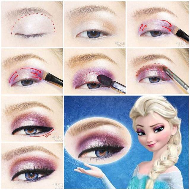 tutorial maquillaje ojos Elsa Frozen