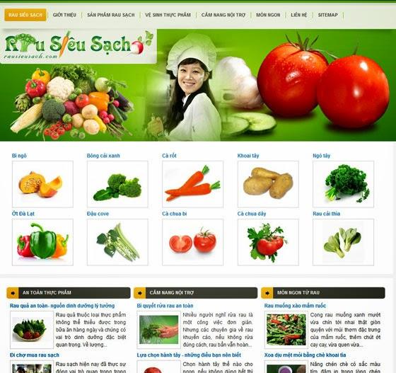 thiết kế web nông nghiệp