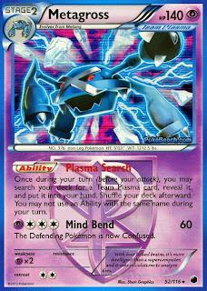 Metagross Plasma Freeze Pokemon Card