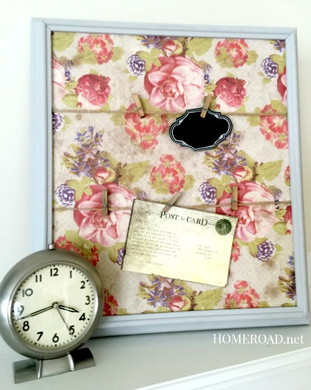How to Make an Easy Memo Board Using Vintage Paper www.homeroad.net