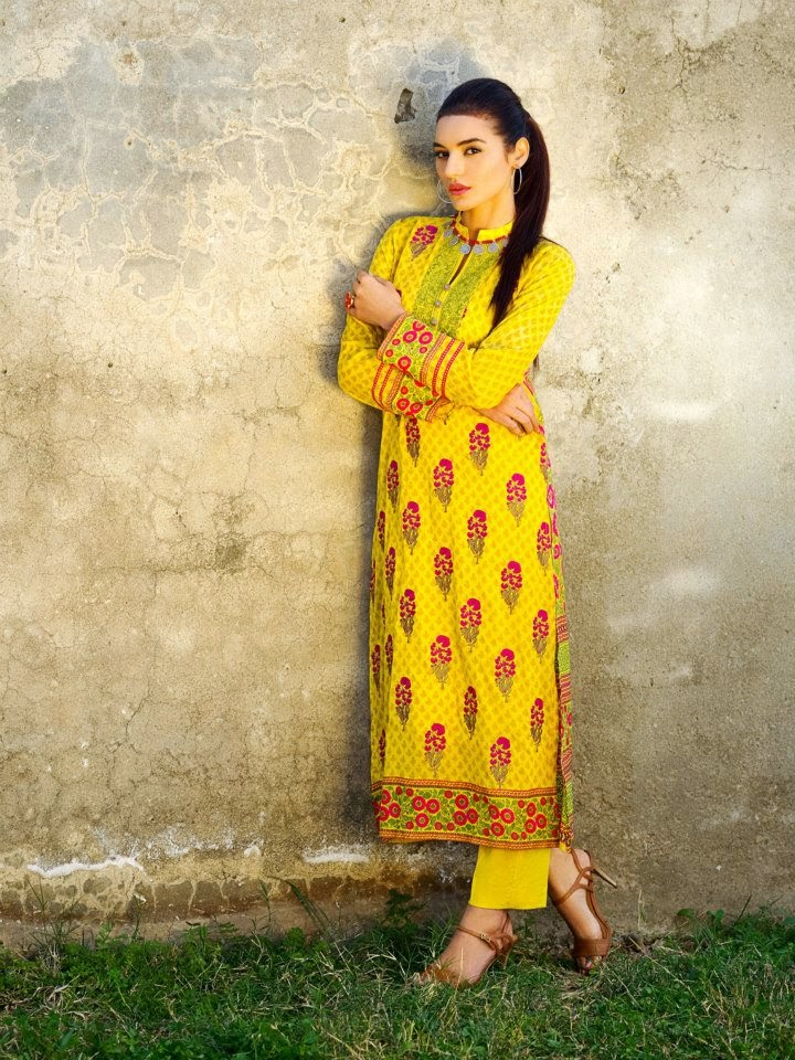 Khaadi latest lawn collection 2015