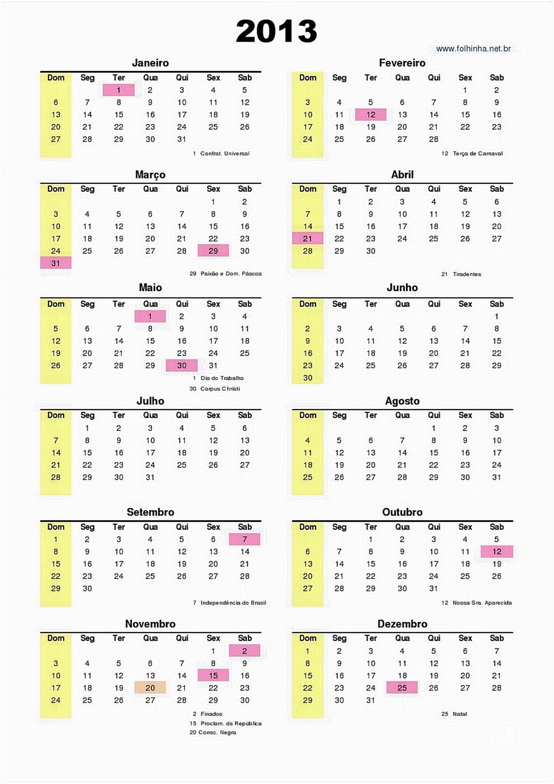 datas comemorativas e feriados brasileiros