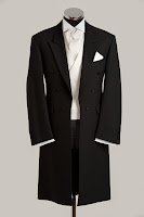 black frock coat wedding suit hire