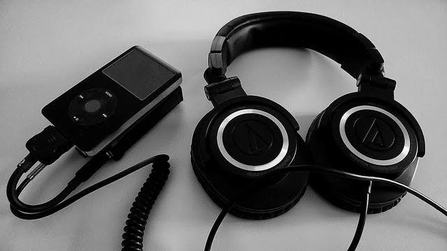 Cuffie nere con iPod