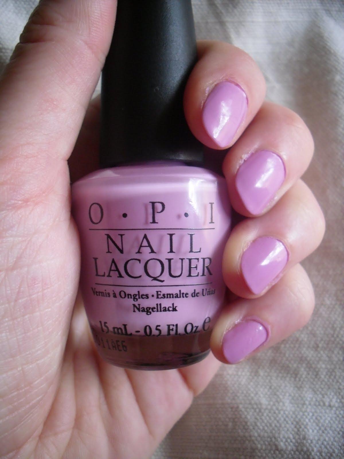 Light Purple Nail Polish Opi Lavender nail polish i d