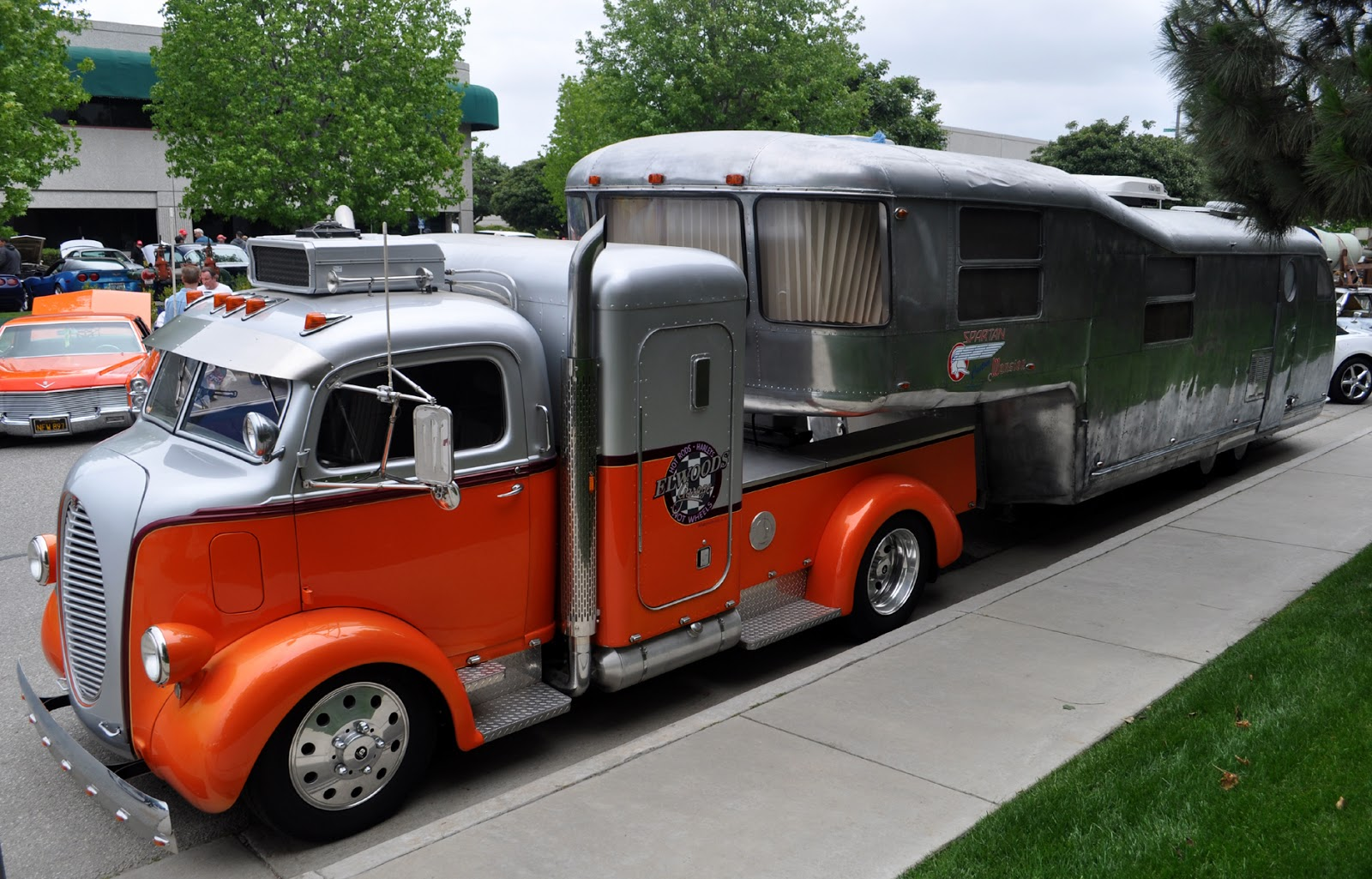 Most impressive hot rod truck and trailer I've seen in a while, the