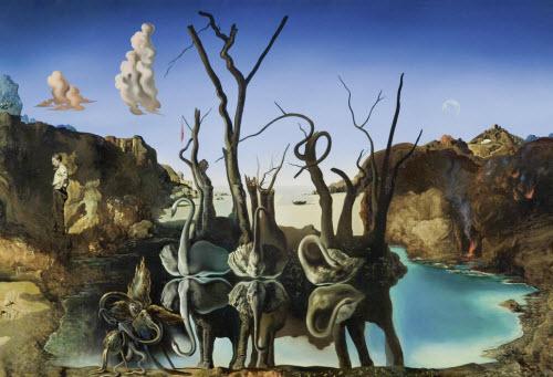 Salvador Dalí: Los cisnes y los elefantes