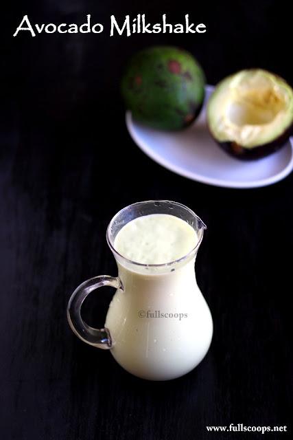 Avocado Milkshake | Butter Fruit Milkshake ~ Full Scoops